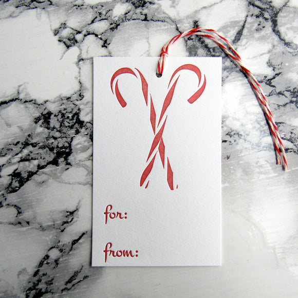 Candy Cane Gift Tags