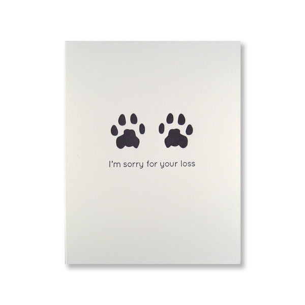 inviting letterpress pet sympathy cards cat paw prints inviting