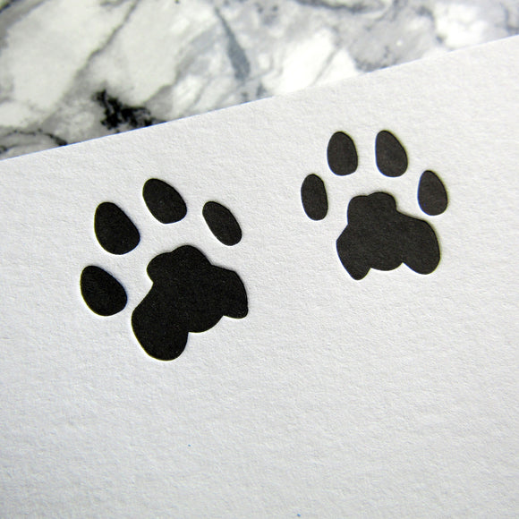 Cat Paw Prints Custom Stationery