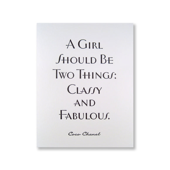 Coco Chanel Quote {Last One!}