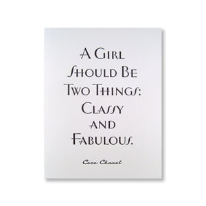 Coco Chanel Note Card