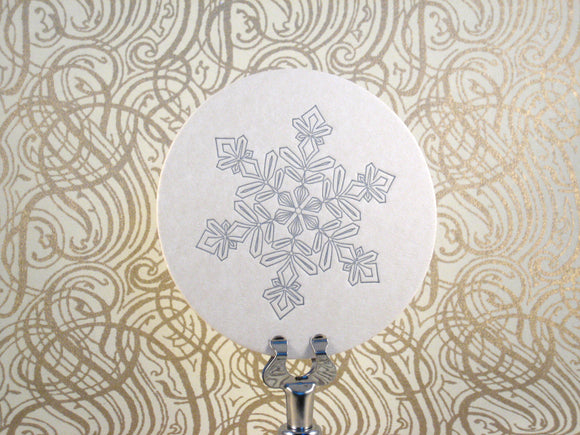 Silver Snowflake Coasters {Last One!}