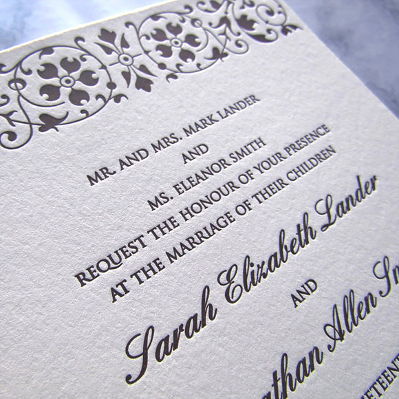 de Winter Wedding Invitations
