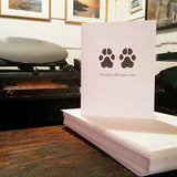Pet Sympathy - Paw Print Cards {more styles available}