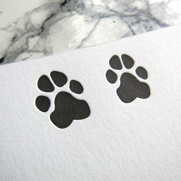 Dog Paw Prints Stationery {Custom}