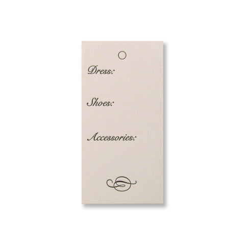 Dress Hanger Tags