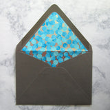 Blue Dots Liners & Lined Envelopes