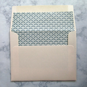 Fanned Lined Envelopes {More Colors Available}