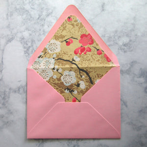 Cherry Blossom Lined Envelopes