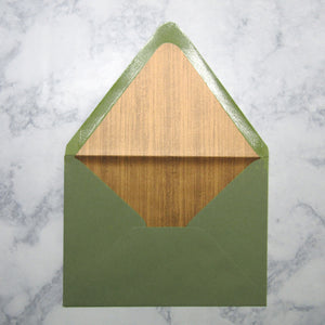 Copper Woodgrain Liners & Lined Envelopes