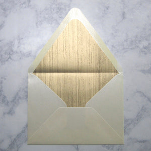 Gold Woodgrain Liners & Lined Envelopes