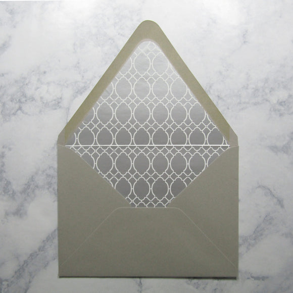 Silver Pattern Lined Envelopes