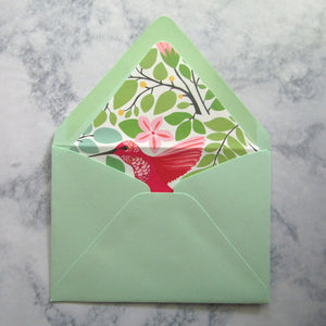 Hummingbird Liners & Lined Envelopes
