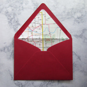 Map Lined Envelopes