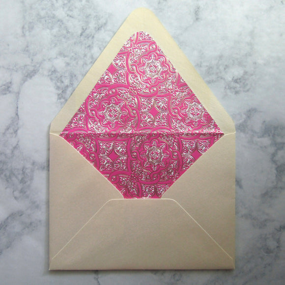 Pink Foil Liners & Lined Envelopes
