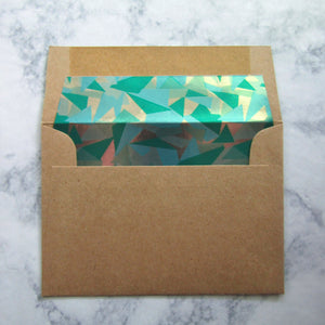 Green Prism Liners & Lined Envelopes
