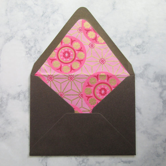 Rosette Lined Envelopes