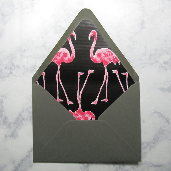 Flamingo Liners & Lined Envelopes