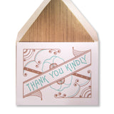 Letterpress thank you kindly cards, copper and teal ink, INV1073, by inviting.