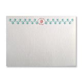 Letterpress stationery with poppy in teal and orange, INV1075, by inviting.