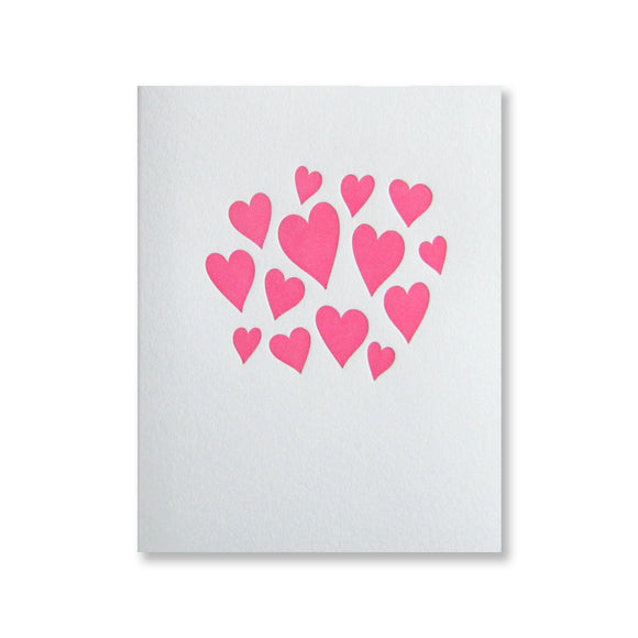 Heart Cluster Note Card