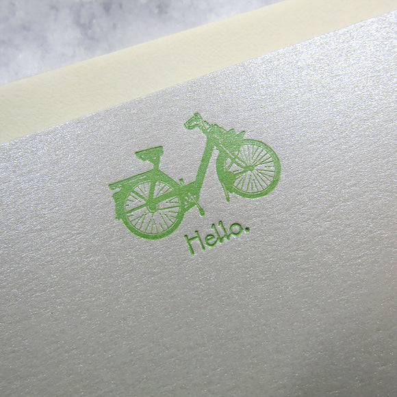 Lime Bicycle Stationery