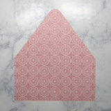 Rosy Pink Envelopes Liners {More Styles Available}