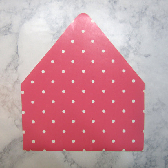 White Dotted Envelopes Liners
