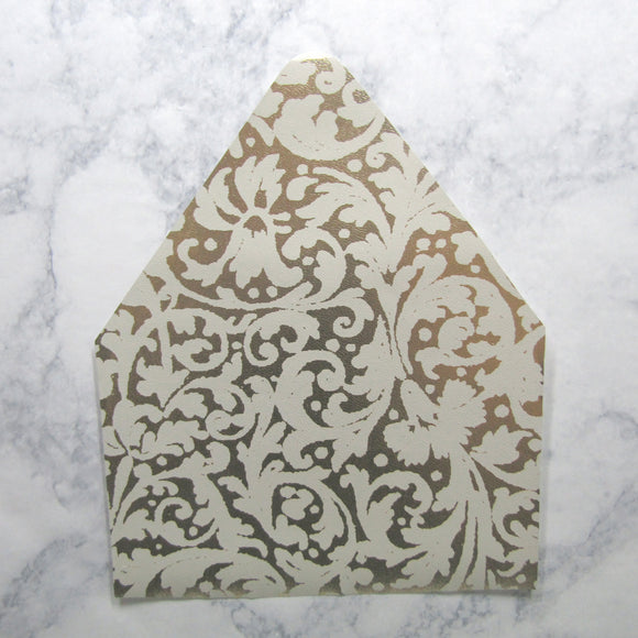 White Pattern on Gold Envelopes Liners