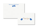 Love birds personalized stationery and thank you card, designed & letterpress printed by inviting | shopinviting in Austin, Texas.