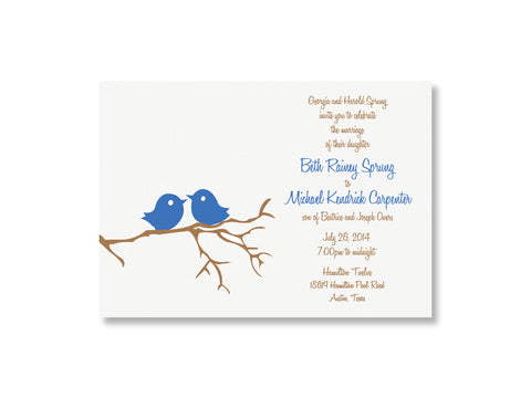 Love birds wedding invitation, designed & letterpress printed by inviting | shopinviting in Austin, Texas.