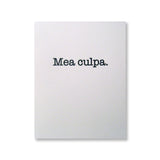 Letterpress Mea Culpa cards, black ink, by inviting | shopinviting INV1048