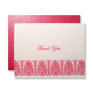 Vintage inspired letterpress thank you cards by inviting INV1013