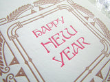 Happy New Year Card {copper & pink}