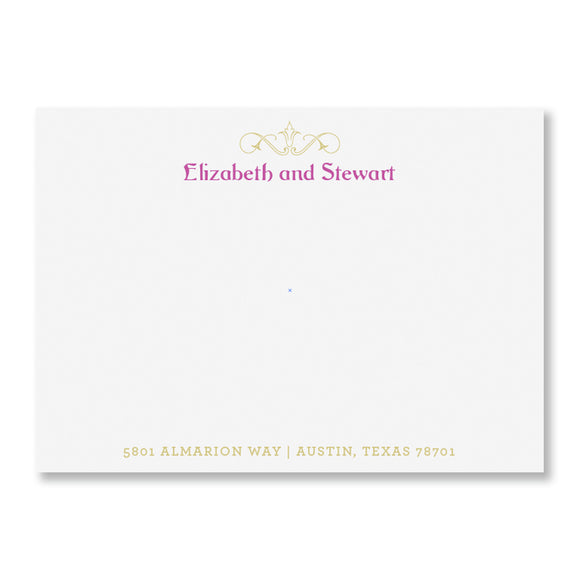 Claudette Personalized Stationery (L)