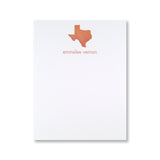 Texas Stationery, personalized and letterpress printed by inviting in austin, texas.