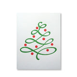 Red and green letterpress christmas card by inviting in austin texas.