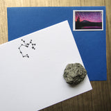 Letterpress constellation Sagittarius stationery, in black ink, by inviting INV1119.