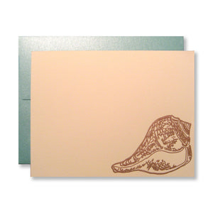 Copper seashell stationery by inviting | shopinviting