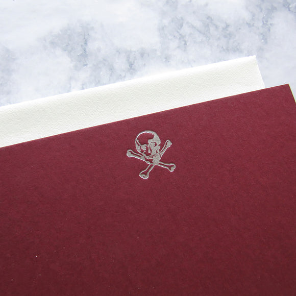 Silver Skull Stationery {last one}
