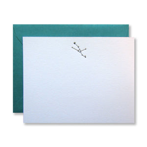 Letterpress Taurus zodiac constellation stationery (flat card) in black in by inviting in austin, texas.