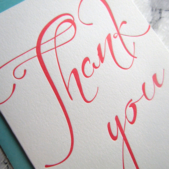 Thank You Script Note Cards {More Colors Available}