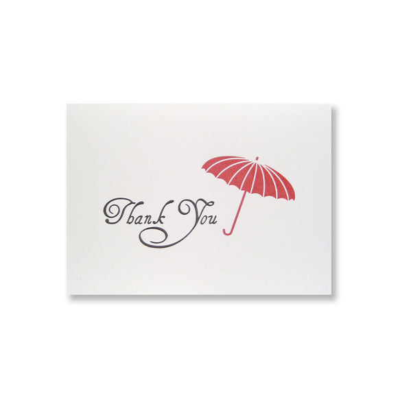 Audrey Thank You Parasol Cards {Custom}