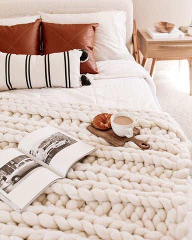 Cuddle up with a cozy blanket