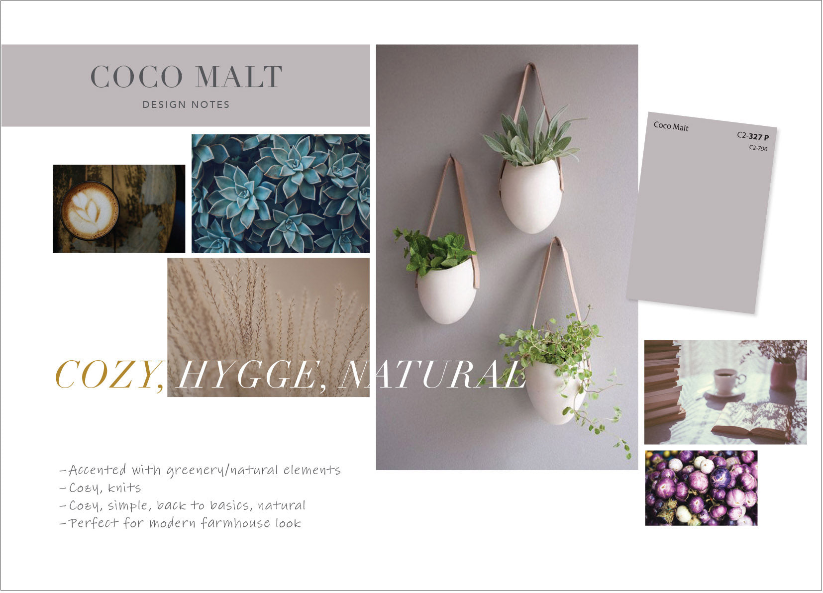 C2 Paint - Coco Malt - C2-796 - Mood Board