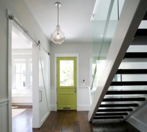 Paint the inside of the front door to add color and the element of surprise!