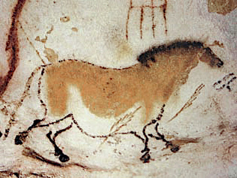 The oldest cave painting, Lascaux, found near Montignac, France in 1940M