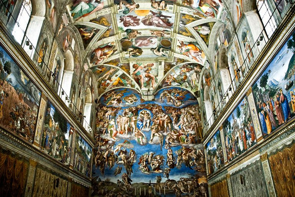 Imagine if Michelangelo Sistine Chapel (photo) didn't utilize this space…or used just plain white!