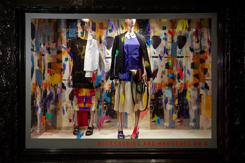 LIberty's of London Window Displays are always a crowd-pleaser