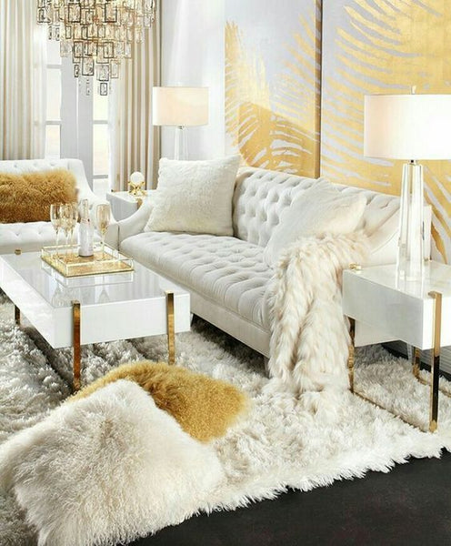 Gold accents deliver a dose of glamour